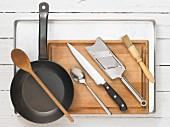 Kitchen utensils for making courgette carpaccio