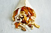 Tropical nut mix with coconut and banana chips
