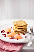 American Style Pancakes with Fruit