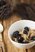 Cinnamon Bircher Muesli with Blackberries