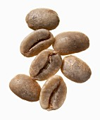 Unroasted Columbia Supremo coffee beans