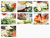 Hirsesalat mit Gurke, Tomaten und Minze zubereiten