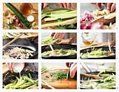 Gurkengemüse mit Dill und Ingwer zubereiten