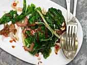 Braised chard with chilli and sultanas