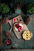 Panettone mit Cranberrykompott