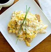 Scrambled eggs and ricotta cheese