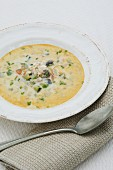 Crab soup with vegetables