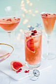 Sparkly paloma with tequila, pink grapefruit and sparkling wine