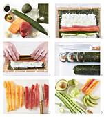 How to make maki sushi with tuna