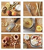 Pfirsich-Shake mit Ingwer, Zitronengras und Honig zubereiten