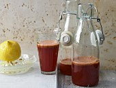 Carrot and apple juice with beetroot
