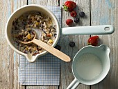 Wild rice porridge with oats, bulgur wheat and pearl barley