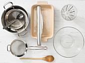 Kitchen utensils for making wild rice porridge