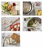 Geflügelsalat-Brötchen zubereiten