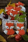 Fuchs-Kekse mit Royal Icing
