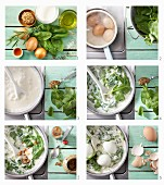 How to make boiled eggs with spinach