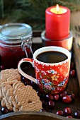Coffee and spiced Christmas biscuits
