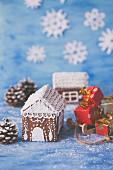 Lebkuchenhäuschen und Mini-Weihnachtsgeschenke