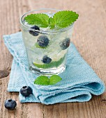 Lime and blueberry lemonade