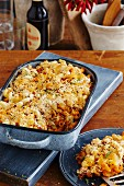 Macaroni chilli bake with cheese
