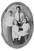 Charles Drew with his siblings, 1910s