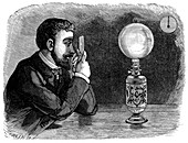 Pin-hole camera experiment, 19th century