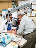 Surgical microscope training