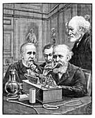 Phonograph demonstration in Paris, 1889