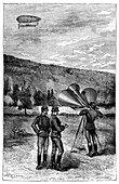 Megaphone communications, 19th century