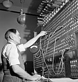 Telegraph switchboard, 1943