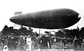 Airship at Oxford University Parks, 1913
