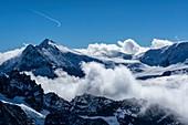 Contrail over Alps