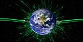 Global energy, conceptual image