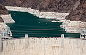 Hoover Dam and Lake Mead during drought, USA