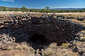Collapsed lava tube, El Malpais National Monument, USA