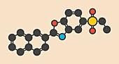 Ezutromid drug molecule, illustration