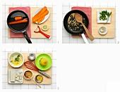 Möhrensalat mit Feta und Pinienkernen zubereiten