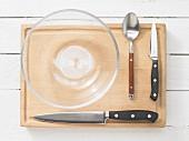 Kitchen utensils for making salad