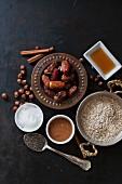Zutaten für gesunde vegane Desserts und Backwaren