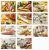 Hähnchen mit Gemüse in der Folie zubereiten