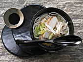 Noodle soup with a teriyaki chicken breast (Japan)