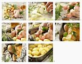 How to make roast aniseed chicken with potatoes, onions and garlic