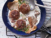 Veal meatballs with oyster mushrooms