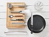 Kitchen utensils for making stuffed veal steaks