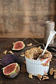 Fig and walnut crumble