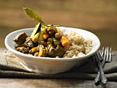 Moroccan beef tagine with chickpeas and sultanas