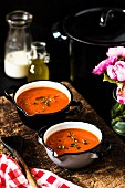 Tomato soup with thyme
