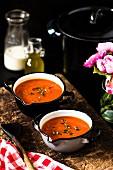 Tomatensuppe mit Thymian