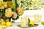 Lemonade on a garden table