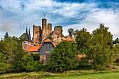 The ruins of Hanstein Castle in Thuringia, Germany